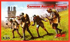 WW I GERMAN ASSULT TROOPS 1917-1918 (INFANTRY) WITH WEAPONS 1/35 ICM