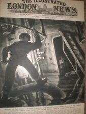 WWII Exploring the Tirpitz at Tromso Fjord Norway 1945 print ref AP