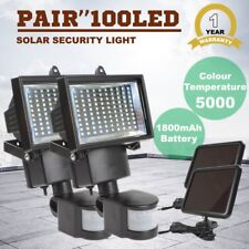 x2 100 LED Solar Sensor Light Flood Security Powered Garden Motion Outdoor XT