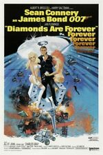 """JAMES BOND - DIAMONDS ARE FOREVER - MOVIE POSTER 12"""" X 18"""" SEAN CONNERY"""