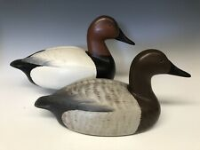New ListingBill Neal (Sonoma, Ca) Duck Hunting Decoy Decoys Vintage Canvasback Pair