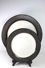 Barnet Bronze THRESHOLD Dinner Plate & Salad Plate Embossed Dots Stoneware