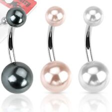 Piercings perla de acero quirúrgico ombligo