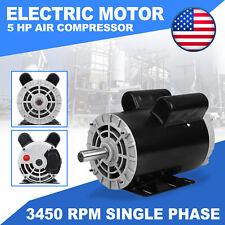 5hp 230v Air Compressor Duty Electric Motor 22amp 3450 Rpm 143t 78 Shaft