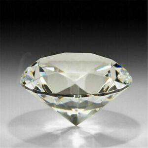 60mm Crystal White Paperweight Cut Glass Large Giant Diamond Jewelry Decor Gift