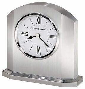 645-753 LINCOLN- A CHROME FINISHED  HOWARD MILLER TABLE/ MANTLE CLOCK W/ALARM