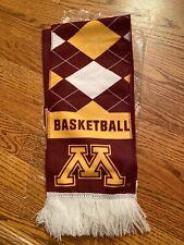 New Minnesota Golden Gophers Mauroon & Gold Basketball Scarf