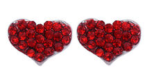 Valentine's Day Gift Tiny Red Heart Post Stud Earrings Girl Jewelry e48r