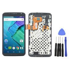 BLK For Motorola Google Nexus 6 XT1100 XT1103 LCD Screen Touch Digitizer Frame T