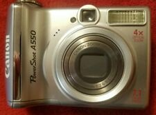 Canon PowerShot A550 7.1MP/4X OPTICAL ZOOM/ DIGITAIL CAMERA/SILVER