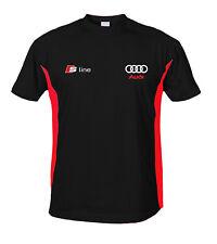 AUDI S LINE T Shirt T-Shirt Polo chemise Coton BRODERIE Fabriqué en EURO S - 6XL