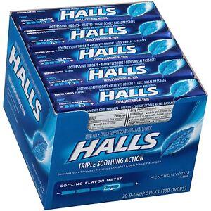 Halls Cough Drops, Mentho-Lyptus, 20 pk