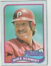 1989 Topps Box Card #L Mike Schmidt card, Philadelphia Phillies HOF