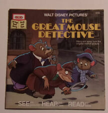 Disney's Great Mouse Detective Story Booklet NO Cassette Included! Nice See!