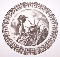 """LOVELY 222 FIFTH SLICE OF LIFE MISS LIBERTY ANTAR DAYAL 8"""" SALAD PLATE"""