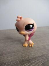 Littlest Pet Shop Ostrich Bird Pink Mauve 851 Authentic Lps