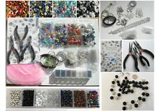 Extra Large Jewellery Making Kit, Tools, Glass Beads, Findings and Instructions