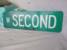 Original Vintage ( w Second ) 20 X 6 Metal Street Sign