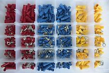480Pcs Assorted Electrical Wiring Connectors Crimp Terminal Set Kits Insulated