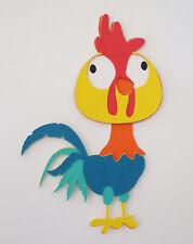 Moana Hei Hei The Rooster Die Cut Paper Piecing Scrapbook Embellishment