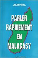 MADAGASCAR  MALAGASY : PARLER RAPIDEMENT MALGACHE méthode d'apprentissage