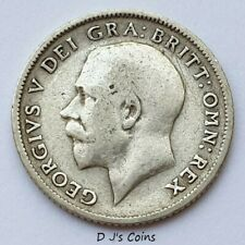 More details for 1917 king george v silver .925 sixpence coin, good grade with nice detail.