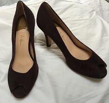 Cole Haan Chocolate Brown Nike Air Peep Toe Heels Size 8 B