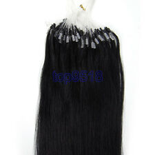 "16~26"" Micro Ring Beads Easy Loop Ombré Remy Real Human Hair Extensions 1g/s"