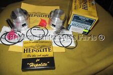2 hepolite Pistons axes piston circlips Joints BSA A65 1962-73 + 060 oversize