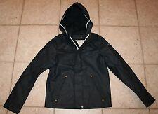 NWT Abercrombie Boys Girls XL Size 14/16 Navy Hooded Rain Jacket