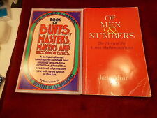 "PAIR OF BOOKS ""OF MEN & NUMBERS, ""BUFFS, MASTERS, MAVENS & UNCOMMON EXPERTS"""