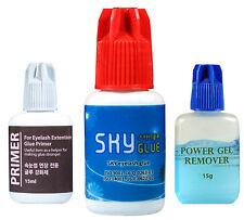 Sky Ultra Bond Plus Glue + Primer + Gel Remover Set For Eyelash Extensions