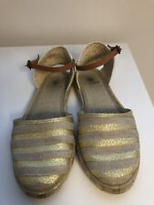 12988694904 Hudson London Biarritz Gold espadrille Women's size 8