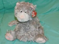 """11"""" Ty Classics CABOODLE Gray Soft Floppy Plush Kitty Cat Pink Nose 2005"""