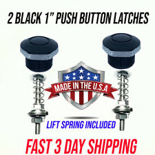 "1"" Black Latch Quick Install ,Fender Hood Or Bumper Push Button Latches"