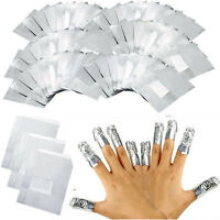 100 Pcs Entferner für Maniküre Nail Polish UV Gel Nagellack Remover Wraps·Folien