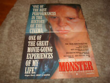 MONSTER Oscar ad with Charlize Theron as Aileen Wuornos & MILLENNIUM ACTRESS