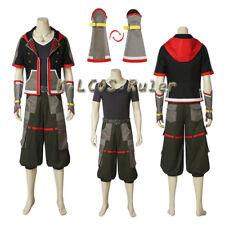 NEW ARRIVAL Kingdom Hearts II 3 Sora Cosplay Costume Halloween full set any size