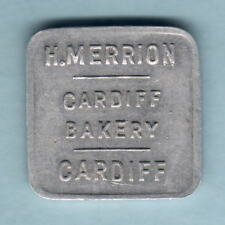 Australia.  BREAD TOKEN. H.Merrion - Cardiff Bakery. Half Loaf.. gEF Much Lustre