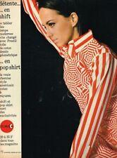 B- Publicité Advertising 1966 Pret à porter chemise Indreco style américain