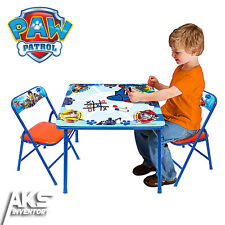 PAW Patrol Erasable Activity Table Set 3 Markers Padded Chairs Children Fun New