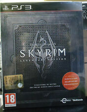 SKYRIM THE ELDER SCROLLS V 5 LEGENDARY EDITION VERSIONE ITALIANA RARA NUOVO PS 3