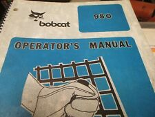 Bobcat 980 Skid Steer Loader Operators Manual