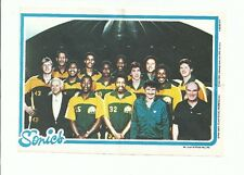 1980-81 TOPPS BASKETBALL - SEATTLE SUPERSONICS TEAM PIN-UP - EXMINT