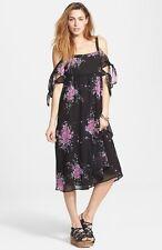 NWT $128 ☮ FREE PEOPLE Tied To You Floral Print Tie Sleeve Dress ☮ MEDIUM