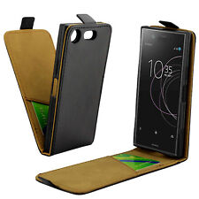 Vertical Flip Leather Skin Case Pouch Phone Cover for Sony Xperia XZ1 Compact