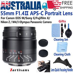 7artisans 55mm F1.4 Ⅱ Lens MF for Sony E Canon EOS EF M Fujifilm X Nikon Z M4/3