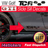 VW Golf GTI GTD R GTE TCR Logo Side Sill decals graphics Kit Mk6 Mk7 MK7.5 Mk8