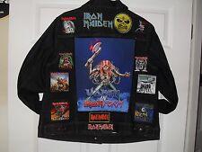 WOMENS Iron Maiden Tribute Jacket--Blue-2XL.....Metallica, AC/DC, Anthrax