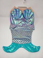 Graceful Mermaid Halloween Costume for Dogs, Purple, Hook-and-Loop Closure Large